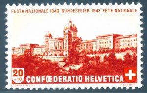 Philatelie 1943: Bundeshaus Bern