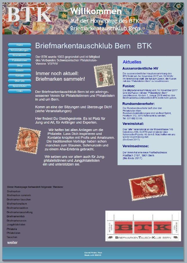 Homepage BTK
